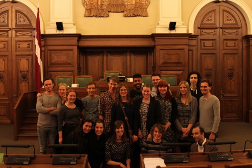 In the Parliament Chamber